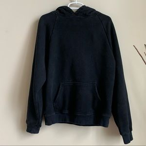 ASOS heavyweight hoodie in washed black